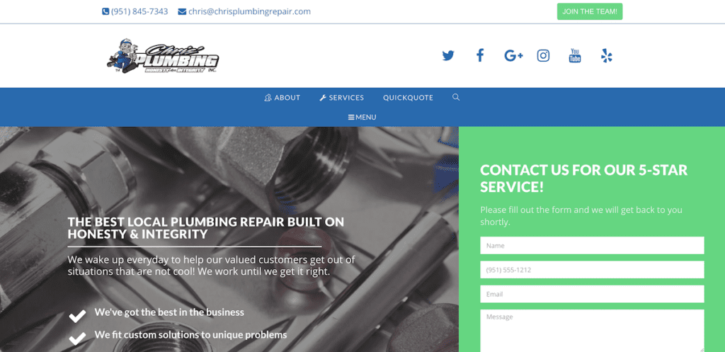 Chris Plumbing Website