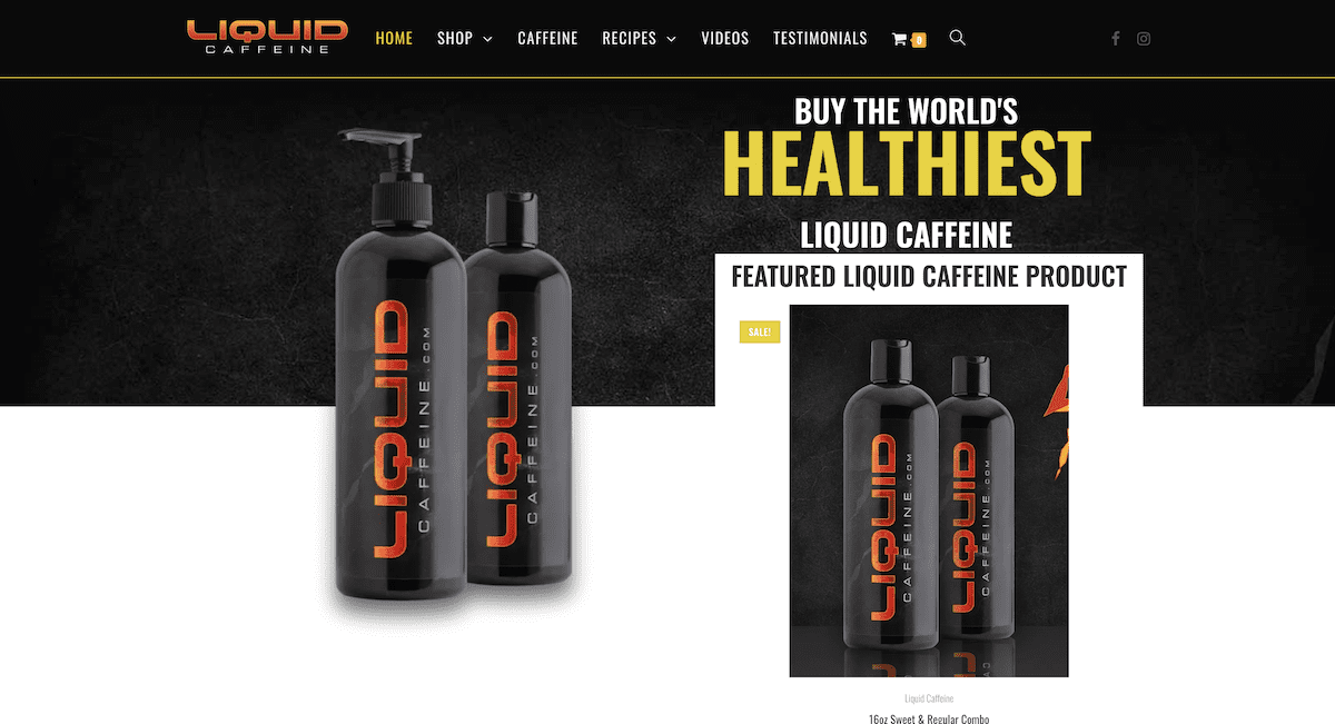 Liquid Caffeine Website