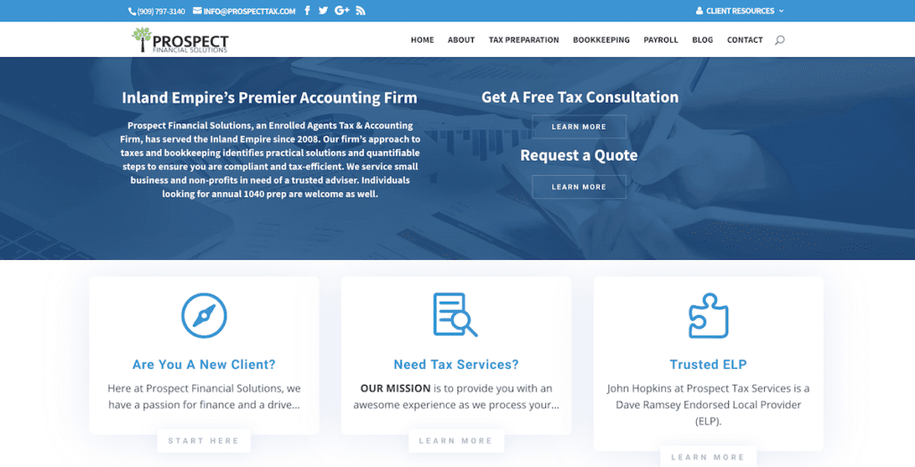 Prospect Tax Website